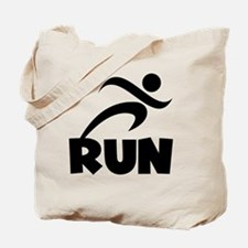 RUN Black Tote Bag