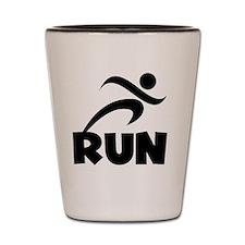 RUN Black Shot Glass