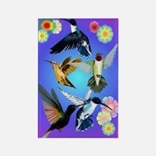 For The Love Of Hummingbirds Rectangle Magnet