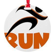 RUN Orange Ornament