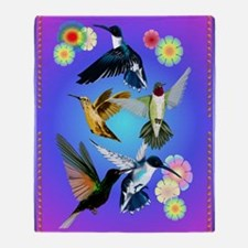 For The Love Of Hummingbirds Throw Blanket