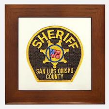 San Luis Obispo Sheriff Framed Tile