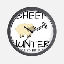 Sheep Hunter Wall Clock