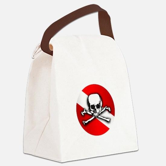 Wreck Diving (Skull) Canvas Lunch Bag