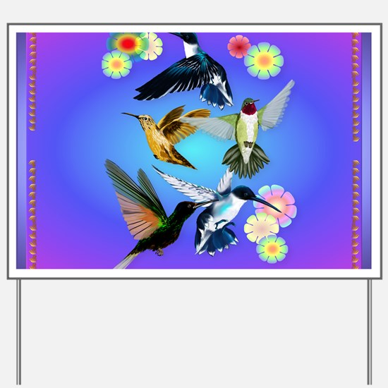 Throw Blanket For The Love Of Hummingbir Yard Sign