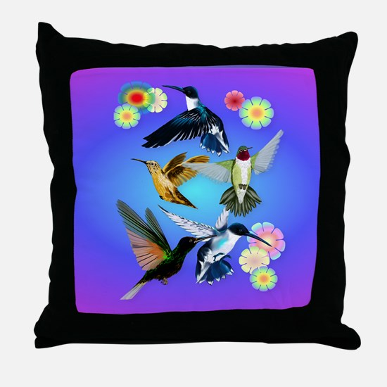 Throw Blanket For The Love Of Humming Throw Pillow