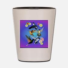 Throw Blanket For The Love Of Hummingbi Shot Glass