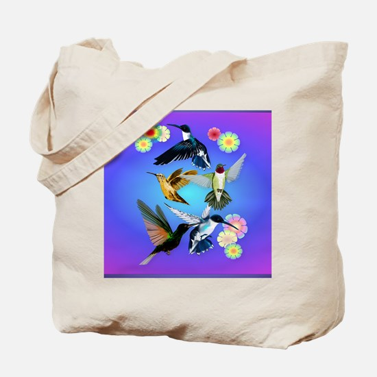 Throw Blanket For The Love Of Hummingbird Tote Bag