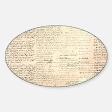 Words on a Page Sticker (Oval)