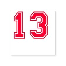 """13 year aged to perfection  Square Sticker 3"""" x 3"""""""