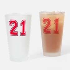 21 year aged to perfection designs Drinking Glass