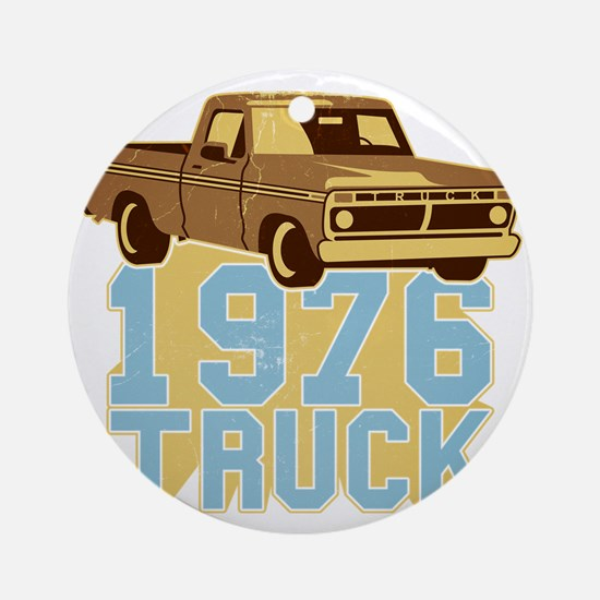 76er  Pickup Truck Round Ornament