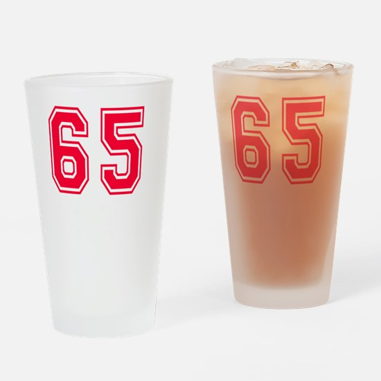 65 year aged to perfection designs Drinking Glass