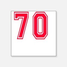 """70 year aged to perfection  Square Sticker 3"""" x 3"""""""