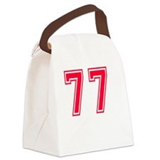77 year aged to perfection Canvas Lunch Bag