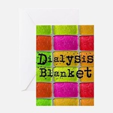 Dialysis pt blanket 2 Greeting Card