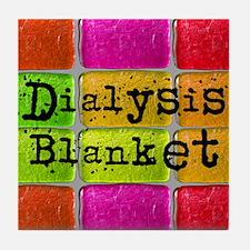 Dialysis pt blanket 2 Tile Coaster
