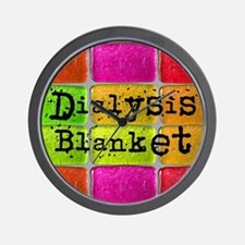 Dialysis pt blanket 2 Wall Clock