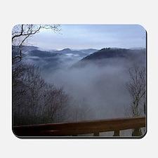 mountains, smokies, foggy mountain Mousepad