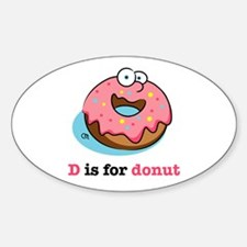 D is for Donut Oval Decal