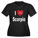 I Love Scorpio (Front) Women's Plus Size V-Neck Da