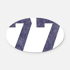 Seniors 77 Oval Car Magnet