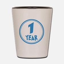 Baby - Month 12 - One Year - Boy Shot Glass