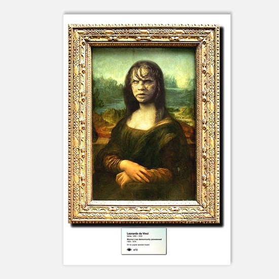 Mona Lisa demonically pos Postcards (Package of 8)