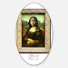 Mona Lisa demonically possessed Sticker (Oval)