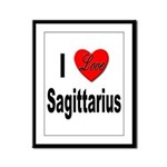 I Love Sagittarius Framed Panel Print