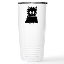 Long Haired Black Cat. Travel Mug