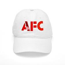 AFC Red Text b (10x10, clr bkgrd) Baseball Cap