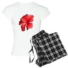 Hibiscus Bloom Ruby Red Pajamas