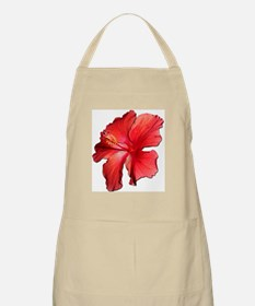 Hibiscus Bloom Ruby Red Apron
