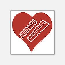 """Love Bacon? Square Sticker 3"""" x 3"""""""