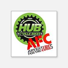 "AFC/HUB LOGO c (10x10, clr  Square Sticker 3"" x 3"""