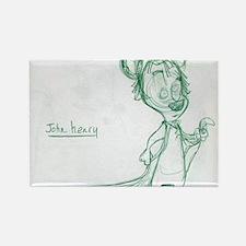 John Henry Cartoon Character Sket Rectangle Magnet