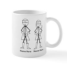 Super Stick Figure Couple Small Mugs