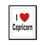I Love Capricorn Framed Panel Print
