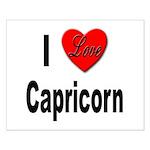 I Love Capricorn Small Poster