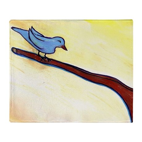 Blue Bird by Sabrina! Throw Blanket