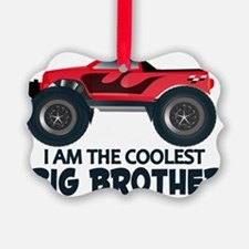 Coolest Big Brother - Truck Picture Ornament