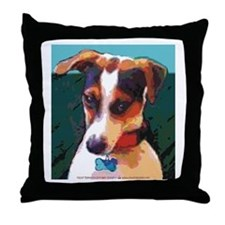 Bad Boy Jack Russell Throw Pillow