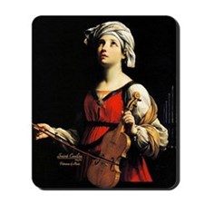 Saint Cecilia Patroness of Music Mousepad