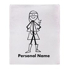 Personalized Super Girl Throw Blanket