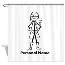 Personalized Super Girl Shower Curtain