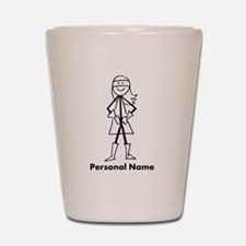 Personalized Super Girl Shot Glass