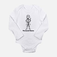 Personalized Super Girl Long Sleeve Infant Bodysui
