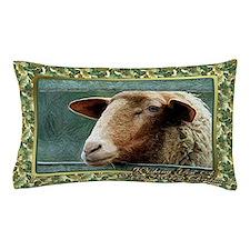 Sheep Christmas Card Pillow Case