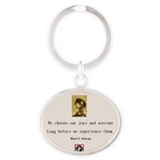 Gibram Quote Oval Keychain
